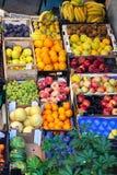 Местный рынок плодоовощ в лете Стоковая Фотография RF
