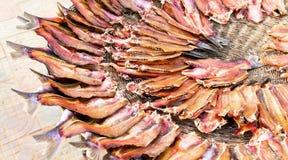 местный рынок рыб воздуха высушенный Камбоджей открытый Стоковая Фотография RF