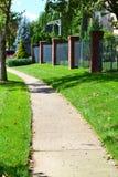 Местный тротуар города стоковые изображения rf
