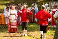 Местными Иван отпразднованное людьми Kupala Стоковое Изображение