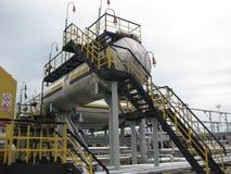 Месторождения нефти оборудования западного Сибиря Стоковые Фото