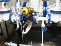Месторождения нефти оборудования западного Сибиря Стоковая Фотография RF