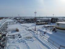 Месторождения нефти оборудования западного Сибиря Стоковое Изображение RF