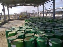 Месторождения нефти оборудования западного Сибиря Стоковая Фотография