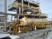 Месторождения нефти оборудования западного Сибиря Стоковые Фотографии RF
