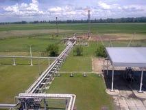 Месторождения нефти оборудования Стоковая Фотография