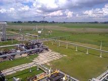 Месторождения нефти оборудования Стоковое фото RF