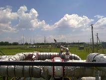 Месторождения нефти оборудования Стоковая Фотография RF