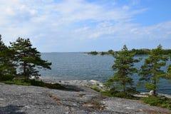 место ландшафта обеспечило текст лета моря под вектором Стоковая Фотография RF