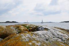 место ландшафта обеспечило текст лета моря под вектором Стоковая Фотография