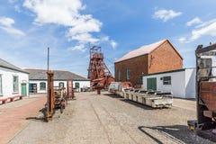 Место большой ямы промышленное в Уэльсе, Великобритании стоковая фотография rf