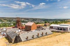 Место большой ямы промышленное в Уэльсе, Великобритании стоковые изображения rf