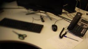 Место бухгалтерии маркетинга рабочего места концепции работы footage Компьютеры в фильтрованном офисе комната рабочего места с акции видеоматериалы