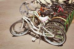 Место велосипеда на автостоянке Стоковое Изображение