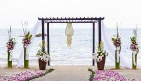 Wedding на пляже. Стоковое Изображение