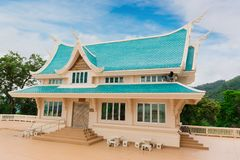 Место виска Watpaphukon религиозных буддистов в Udon Thani, Таиланде стоковая фотография