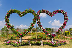 место влюбленности стенда флористическое Стоковое фото RF