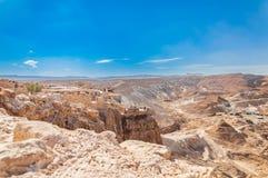 Место всемирного наследия ЮНЕСКО Massada около мертвого моря в Израиле стоковые изображения