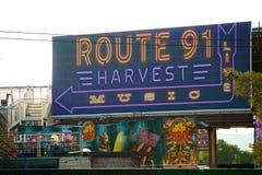 Место в реальном маштабе времени СБОРА трассы 91 после случая всхода стоковое изображение rf
