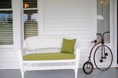 Место влюбленности, ретро винтажная концепция велосипеда Стоковое фото RF