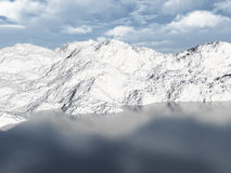 место горы озера 3d Стоковое Изображение RF