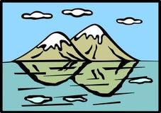 место гор озера Стоковое Изображение RF