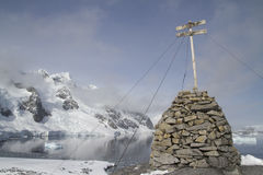 Место где экспедиция Джин первой антартической зимовки французская Стоковое Изображение RF