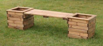 Место деревянной скамьи Стоковая Фотография