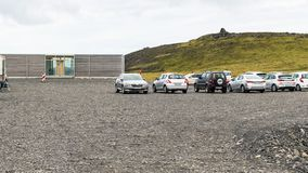 Место для парковки на полуострове Dyrholaey в Исландии Стоковое Фото