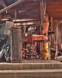 место для работы растрепанное стулом Стоковая Фотография