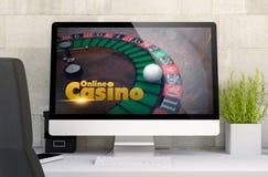 место для работы с казино компьютера Стоковое Изображение