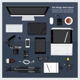 Место для работы творческих & графического дизайна инструмента бесплатная иллюстрация