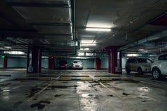 Место для стоянки подземного гаража, автоматический интерьер парка внутрь Стоковое Изображение RF