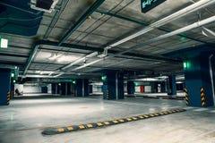Место для стоянки подземного гаража, автоматический интерьер парка внутрь Стоковое Изображение
