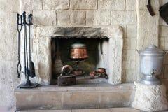место дома пожара старое стоковое фото