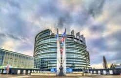 Место Европейского парламента в страсбурге, Франции Стоковое Фото