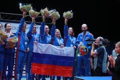 Место 2017 европейца команды ` s девушки России третье стоковые фотографии rf