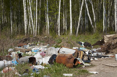 место захоронения отходов самопроизвольно Стоковая Фотография RF