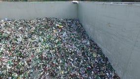 Место захоронения отходов, состав бутылок, вид с воздуха сток-видео