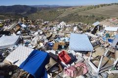 место захоронения отходов Стоковое Изображение