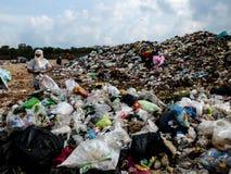 Место захоронения отходов в Таиланде стоковая фотография