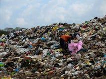 Место захоронения отходов в Таиланде стоковое фото