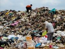 Место захоронения отходов в Таиланде стоковое изображение