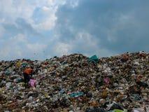 Место захоронения отходов в Таиланде стоковые фотографии rf