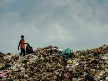 Место захоронения отходов в Таиланде стоковое фото rf