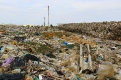 Место захоронения отходов и рециркулировать Стоковые Фото