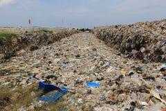 Место захоронения отходов и рециркулировать стоковое фото