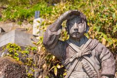 Место захоронения Byakkutai в Aizuwakamatsu, Японии Стоковые Фото