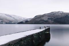 Место зимы Ullswater. Стоковое фото RF