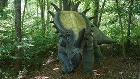 Место динозавра на деревне искусства природы в Montville, Коннектикуте стоковые изображения rf
